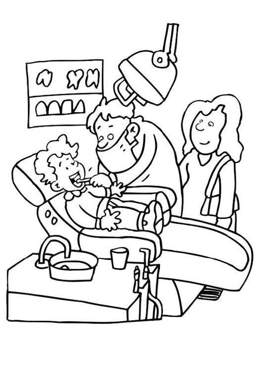 Dental Doctor Coloring Pages
