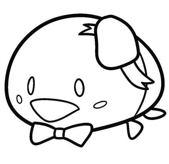 Disney Tsum Tsum Coloring Page To Print