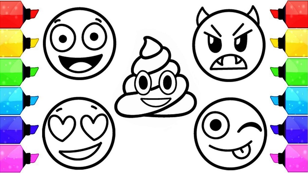 Emoji Coloring Page For Free