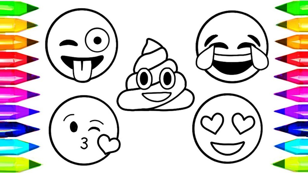 Emoji Coloring Pages For Kids
