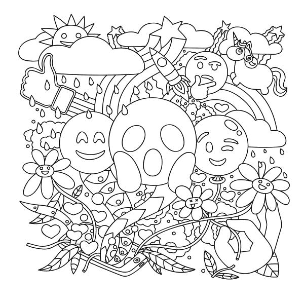 Emoji Coloring Sheet Printable