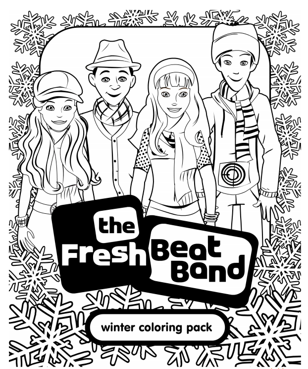 Fresh Beat Band Of Spies Coloring Sheets Printable