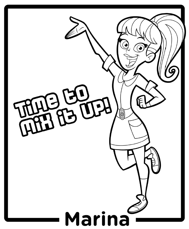 Marina From Fresh Beat Band Of Spies Coloring Pages
