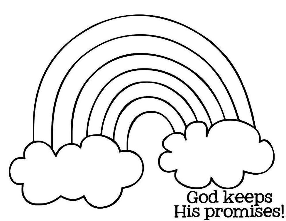 Printable Rainbow Coloring Pages