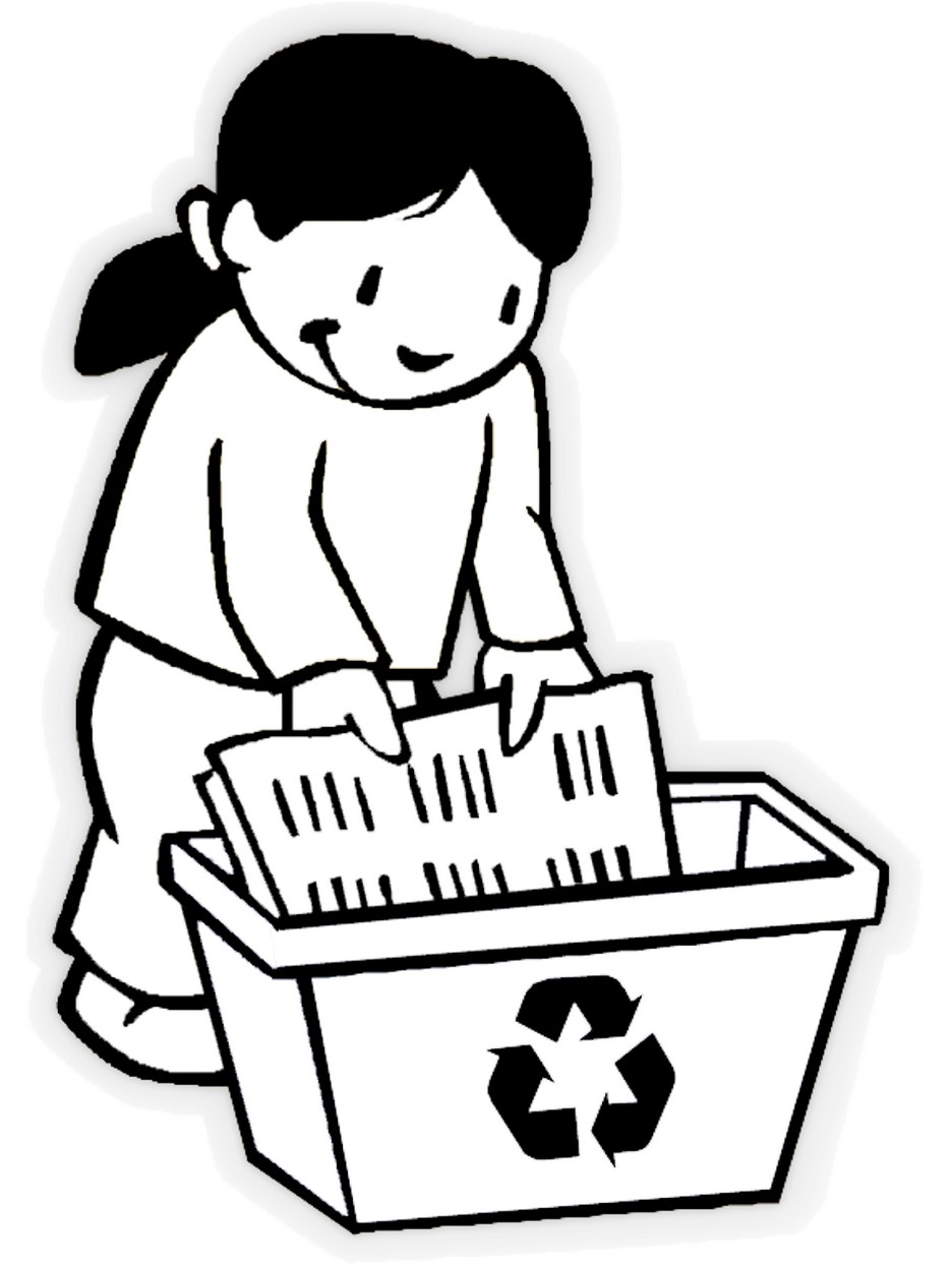 Recycling Coloring Sheets For Kids