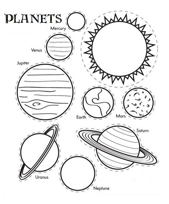 The 9 Planets Coloring Pages