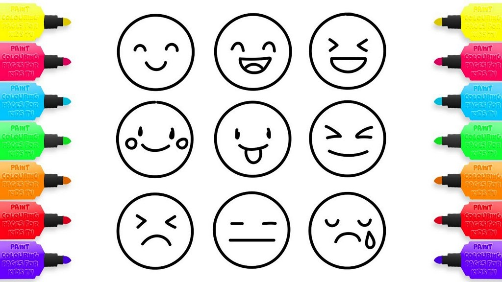 Types Of Emoji Coloring Pages