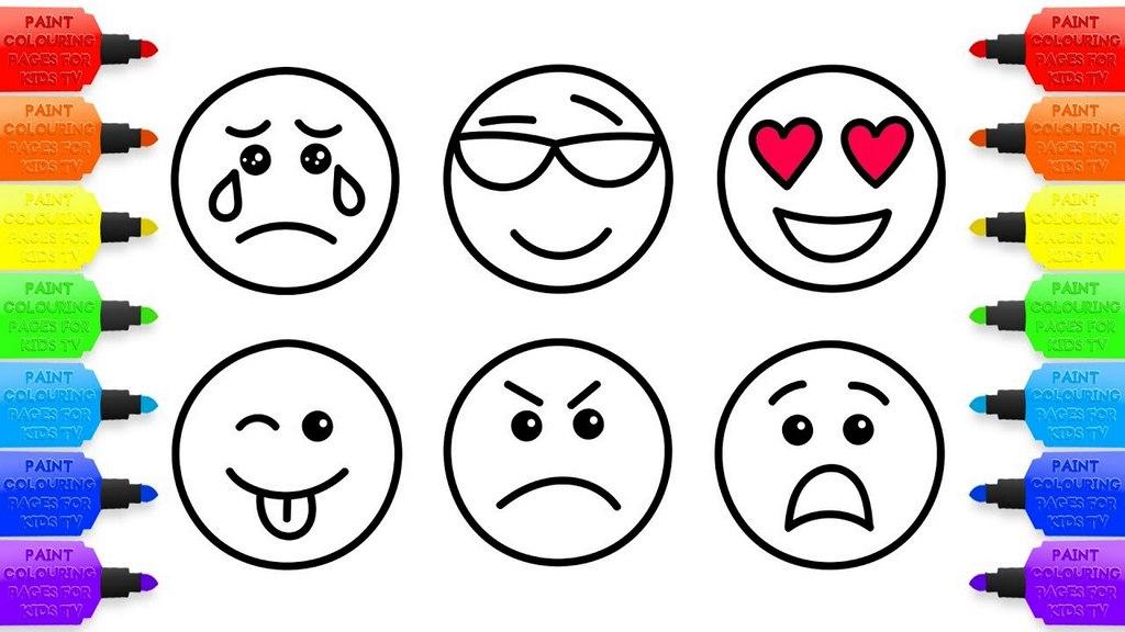 Varied Emoji Coloring Page