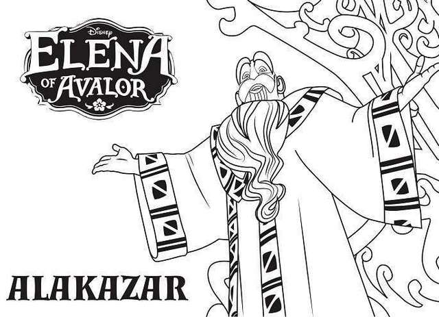 Alakazar From Elena Of Avalor Coloring Books