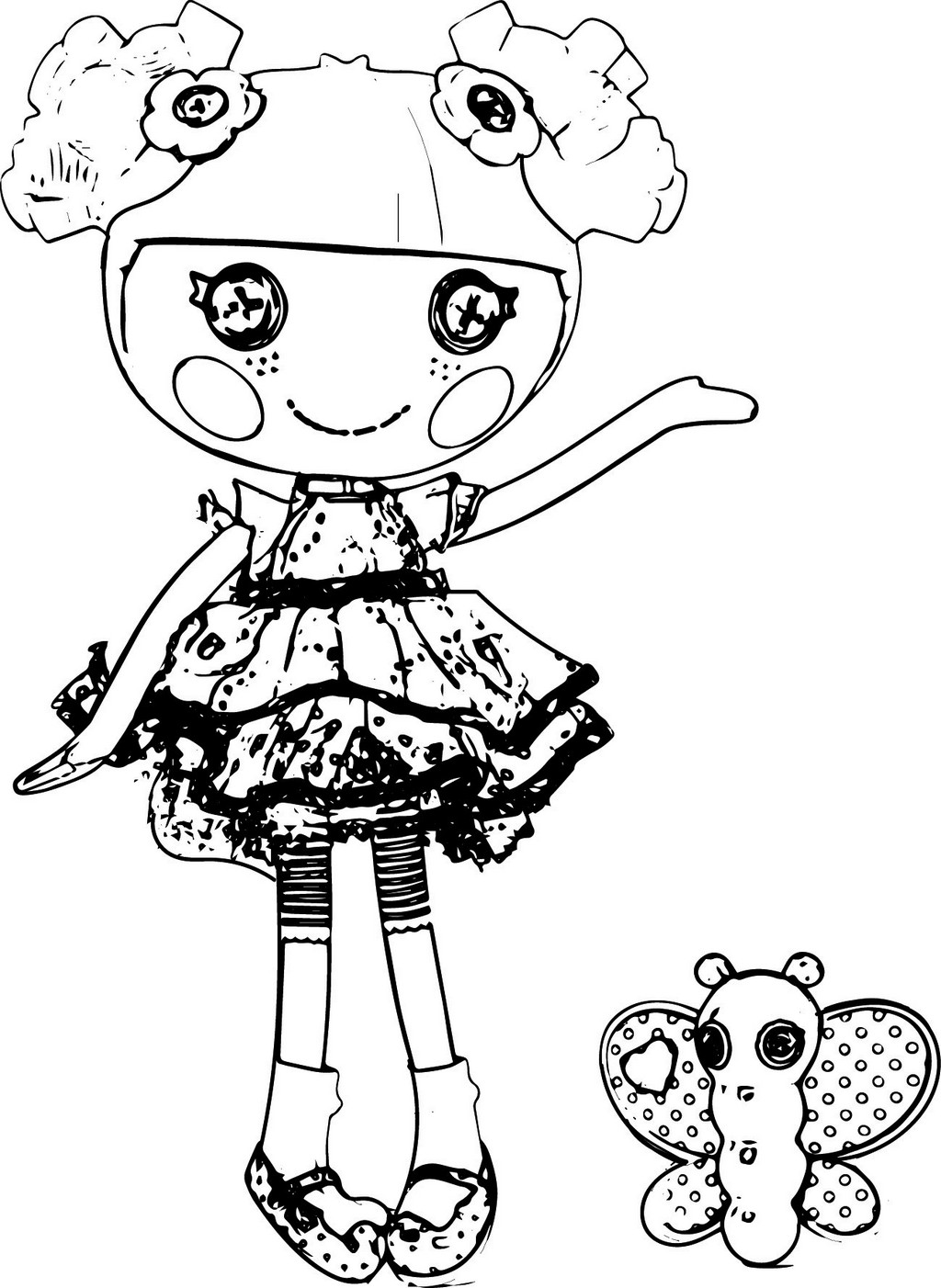 Blossom Flowerpot Lalaloopsy coloring page dolls