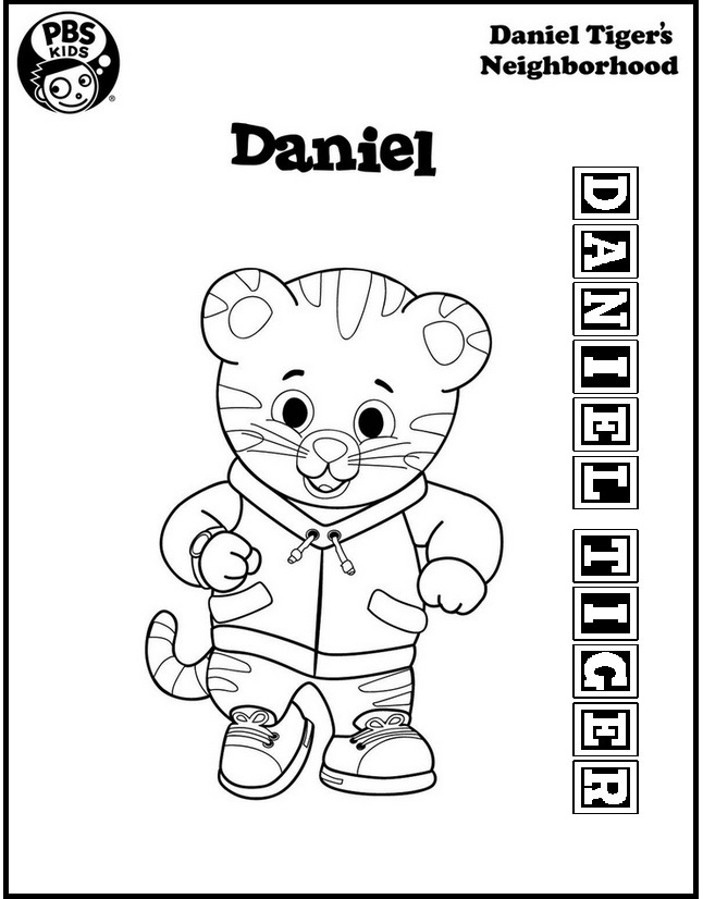 Daniel Tiger Neighborhood Colouring Pages
