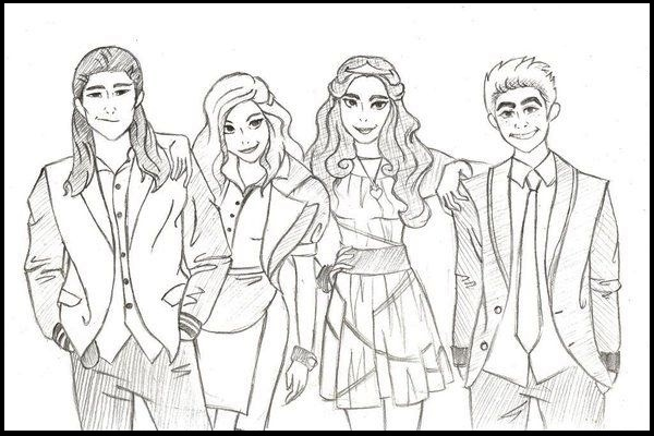 Descendants Wicked World Coloring Page Disney To Print
