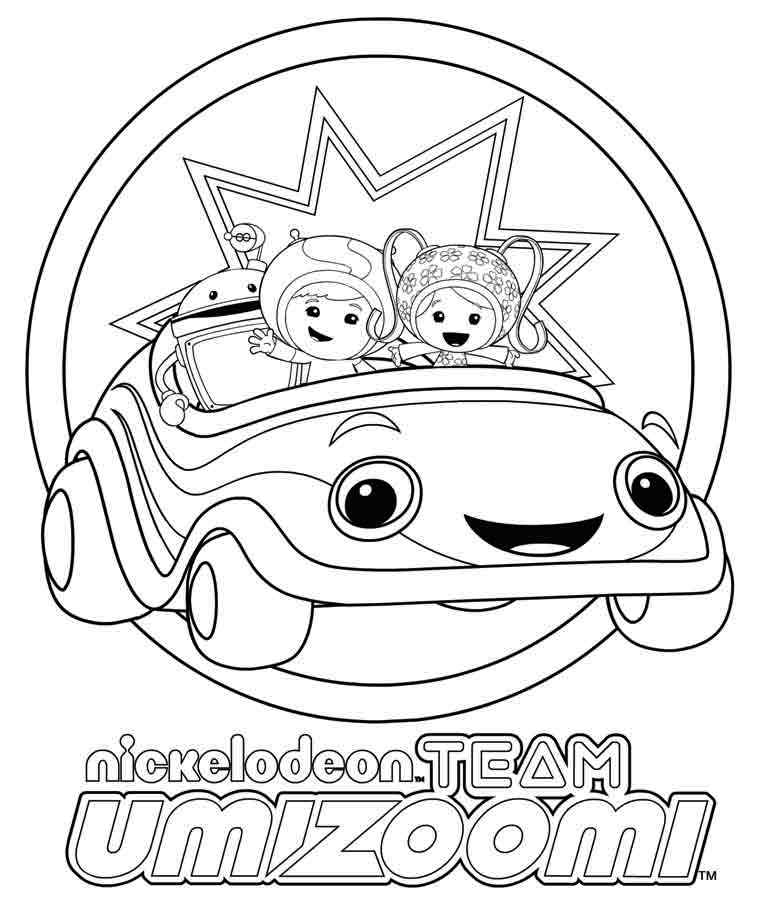 Nickelodeon Team Umizoomi Character Coloring Activity Page