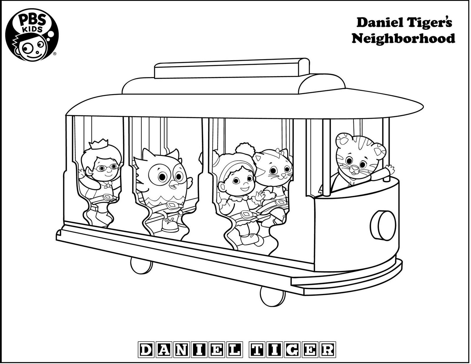 Printables trolley daniel tiger coloring page