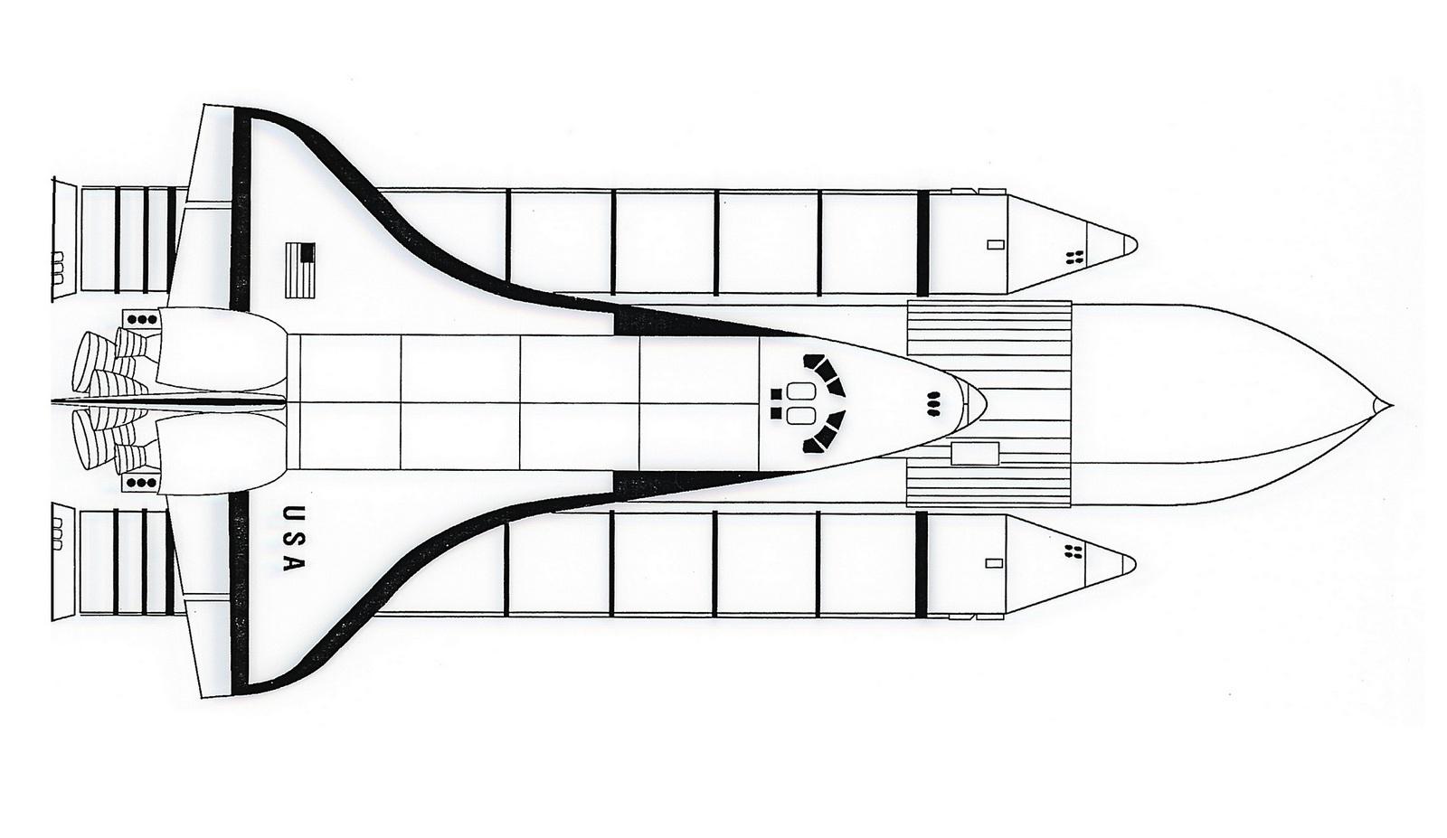 Rocket USA Coloring Aircraft Engine Drawing