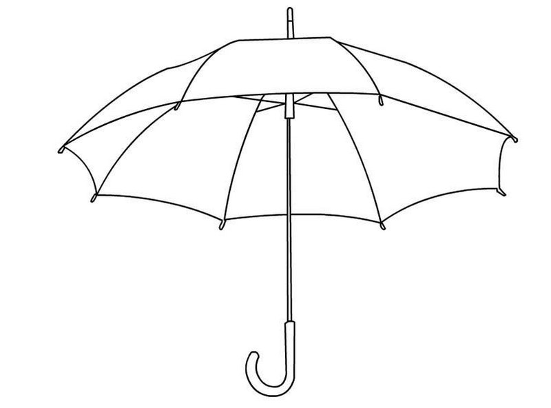 Umbrella Coloring And Activity Sheets
