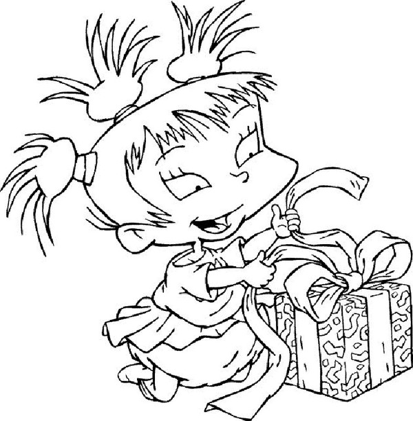 Angelica From Rugrats Characters Coloring Pages