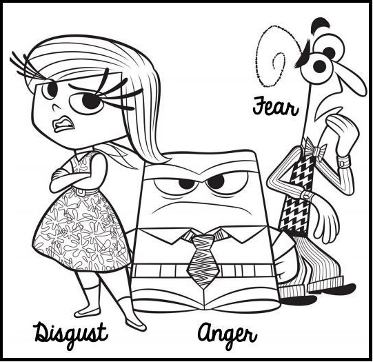 anger fear and disgust inside out coloring pages