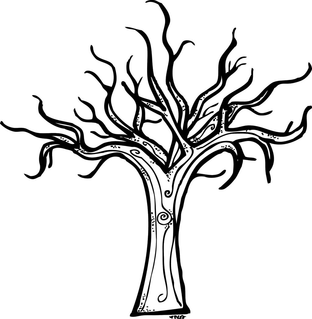 Coloring Page Of A Bare Tree | Coloring Pages
