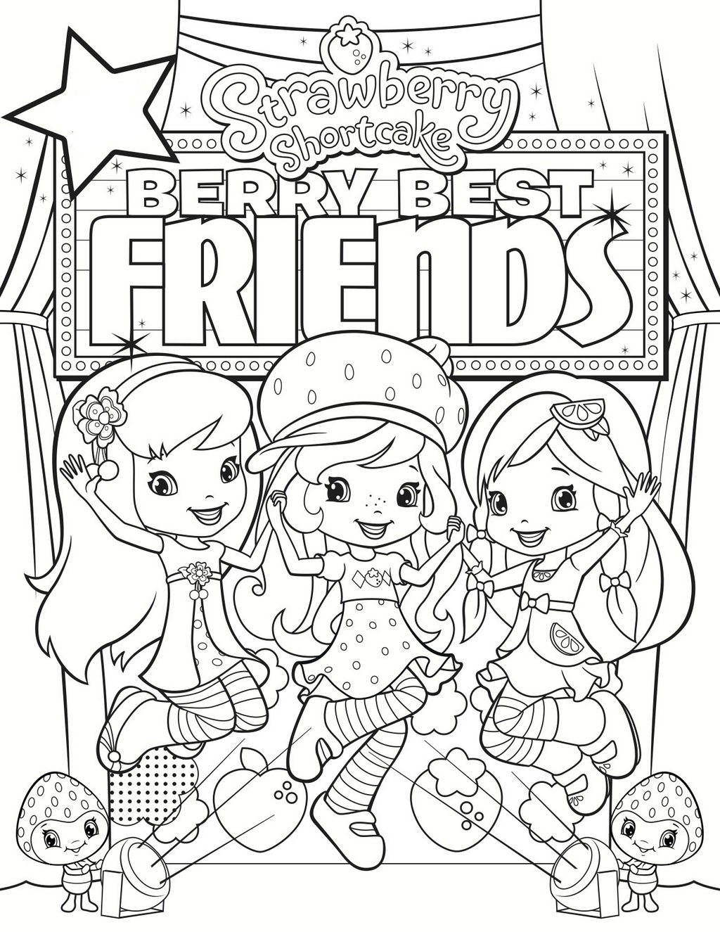 Berry Best Friends Coloring Page Printable