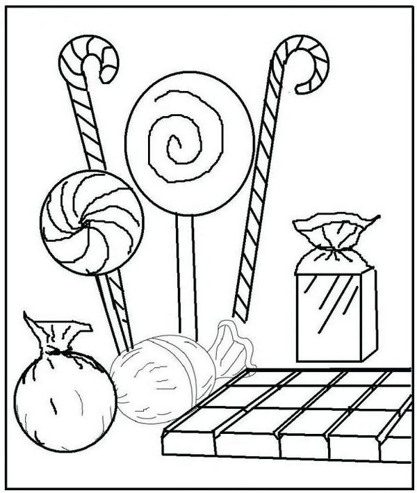 Candy Lollipops Coloring Pages
