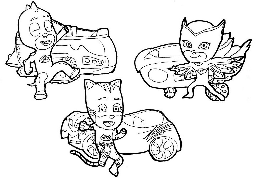 11 Free Download P J Masks Desenhos Para Colorir Worksheets For