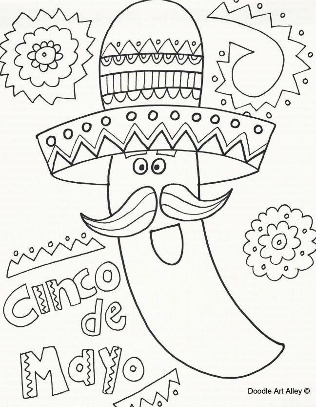 Cinco De Mayo Celebration Coloring Activity Doodle