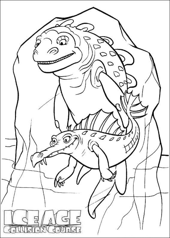 cretaceous ice age coloring and drawing sheet