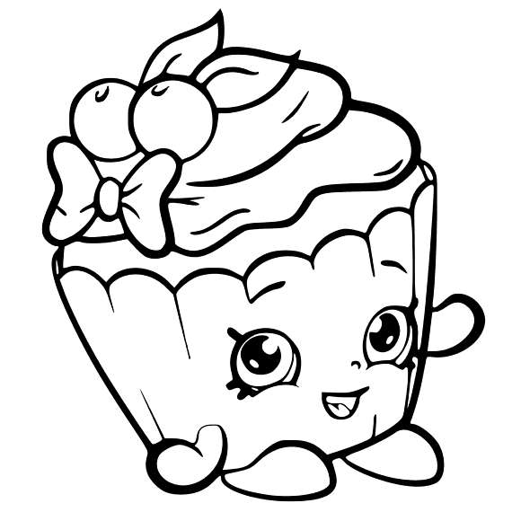 Cupcake Queen Shopkins Coloring Pages