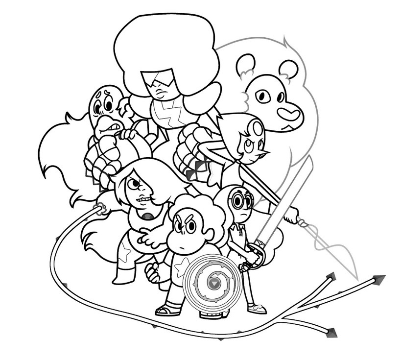 Free Steven Universe Coloring Pages