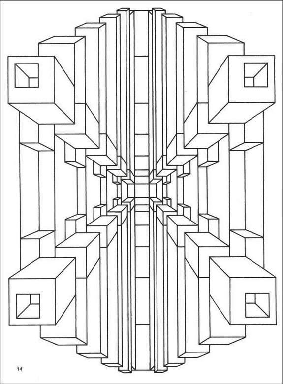 Geometric Coloring Books 3D