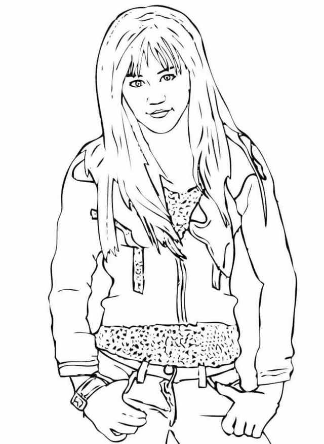 Hannah Montana Coloring Sheet Printable