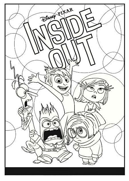 inside out pixar coloring sheet