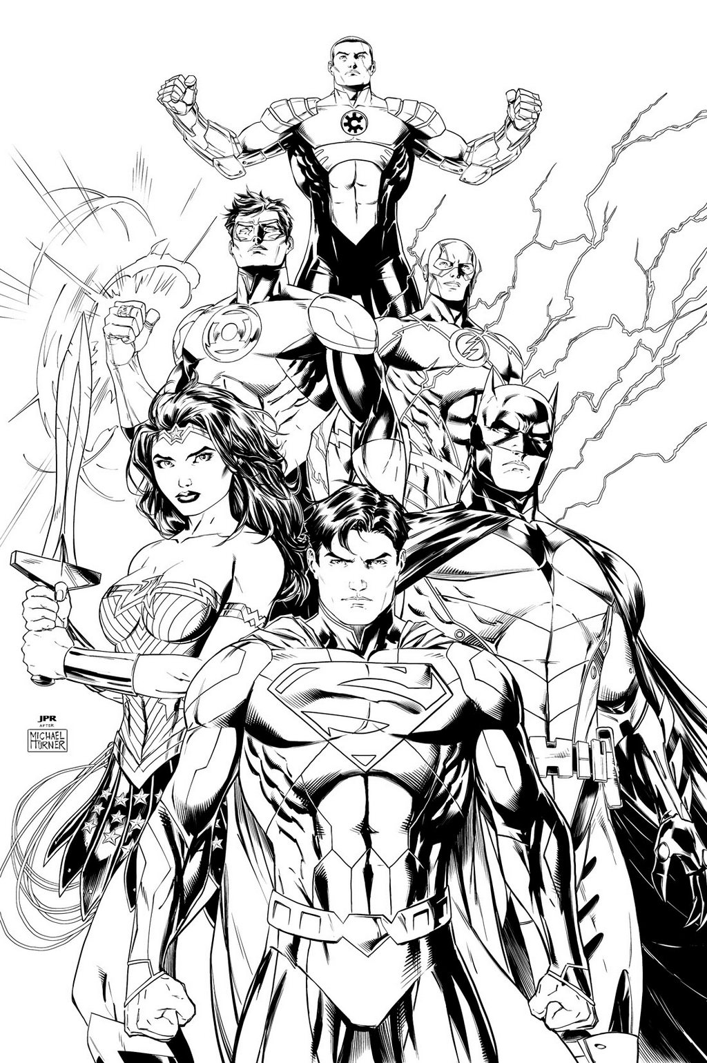 Justice League Coloring Page Printable