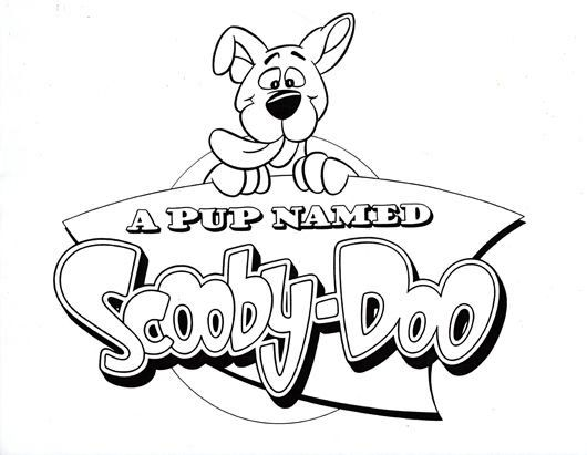logo a pup named scooby doo coloring sheet