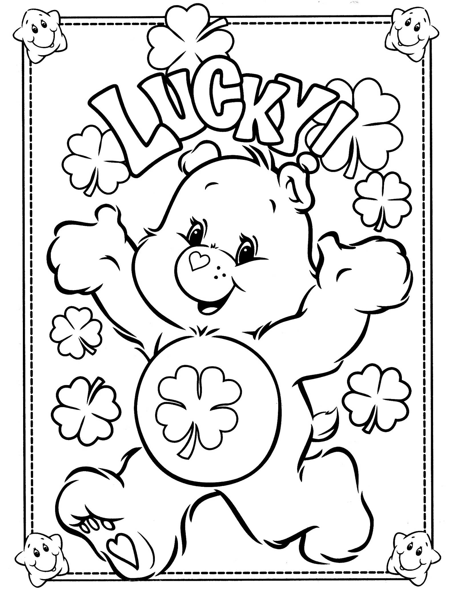 Lucky From Care Bears Coloring For Kids