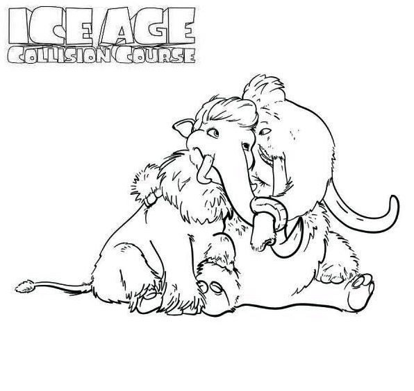 manny and ellie ice age 4 coloring pages