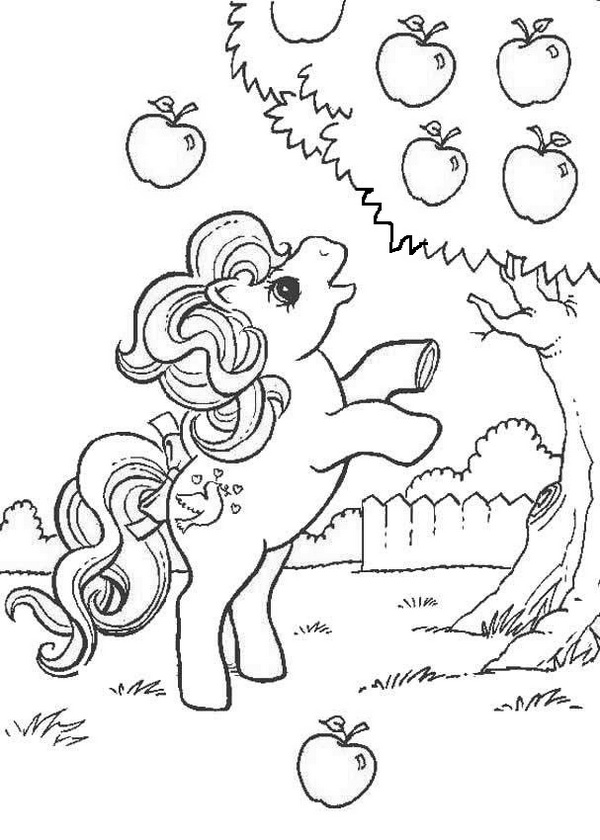 My Little Pony And An Apple Tree Coloring Page