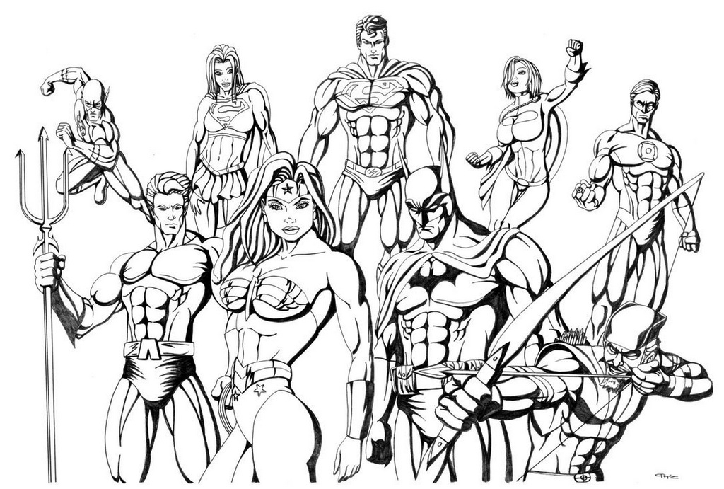 New Justice League Coloring Sheet