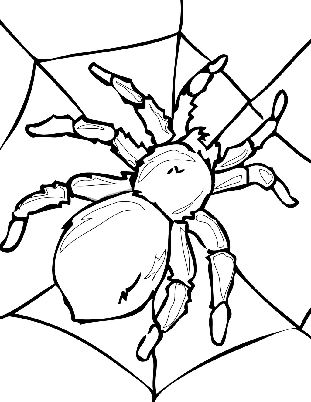 Printable Spider Coloring Book Activity