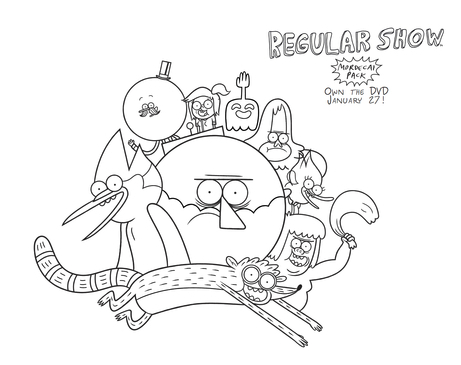 Regular Show Coloring Page Cartoon Network Sheet
