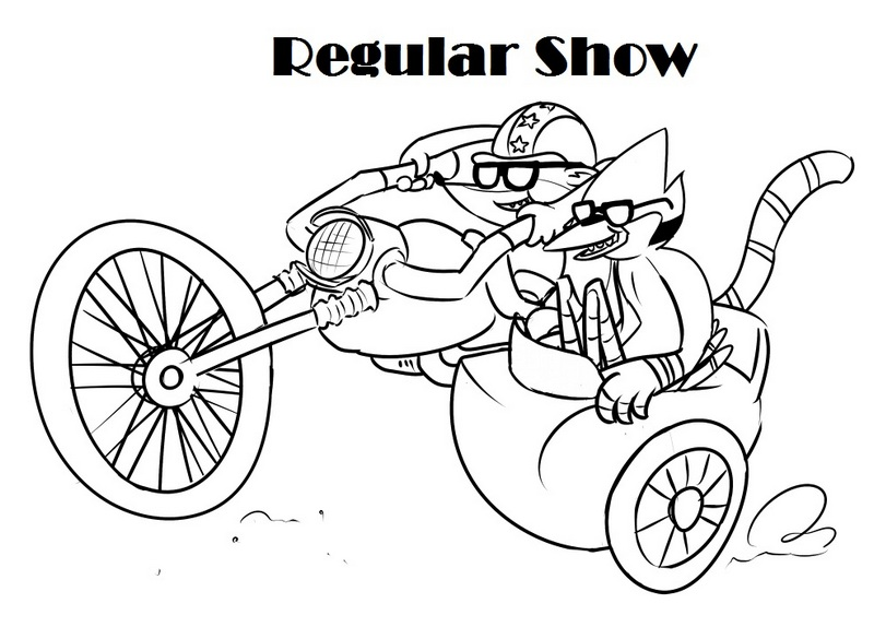 Regular Show Cartoon Network Coloring Page