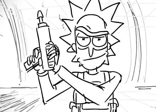 Rick And Morty Coloring Sheet To Print