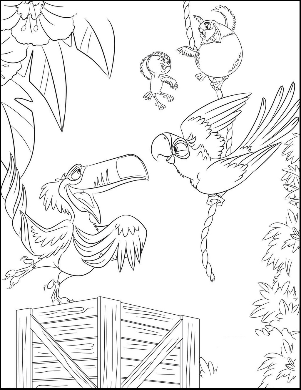 rio coloring and drawing page
