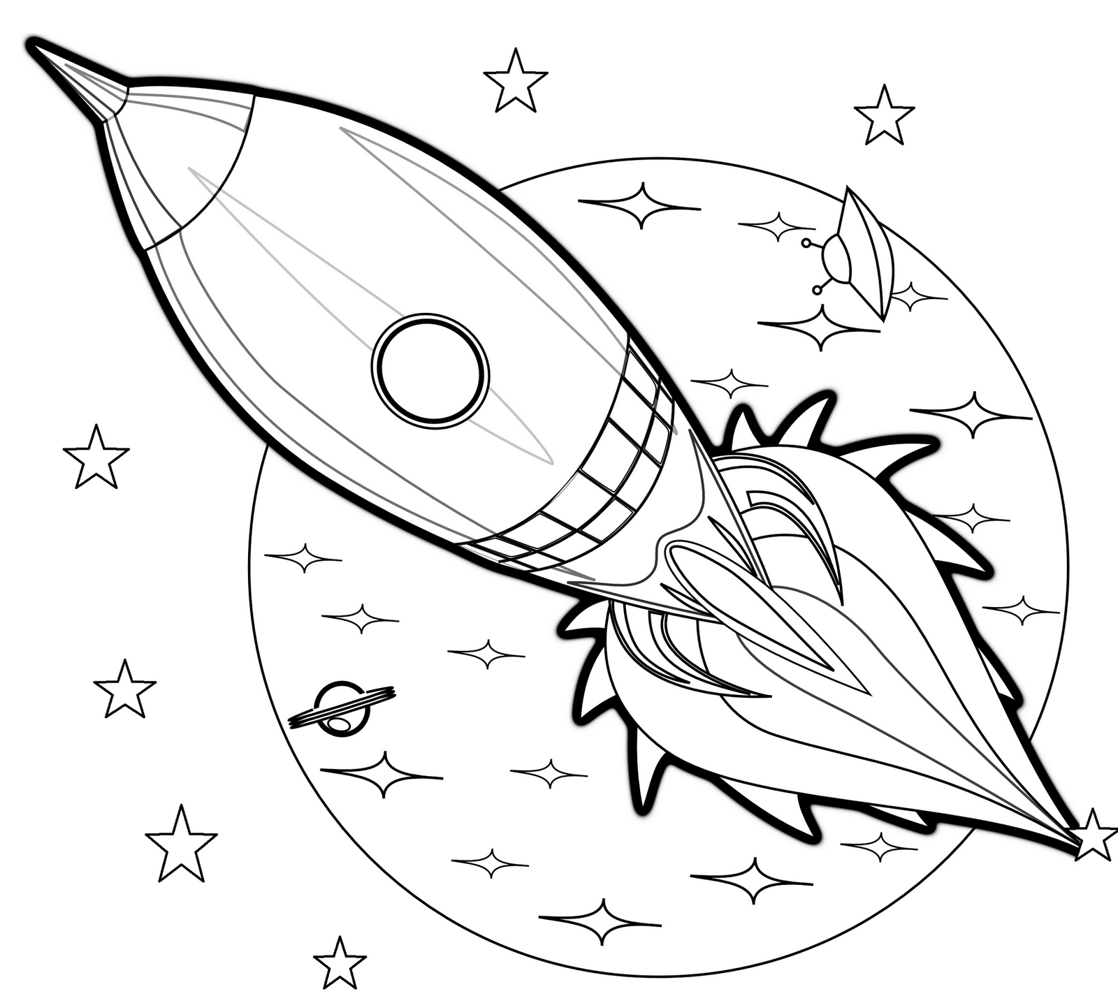 space rocket coloring pages - HD 1600×1436