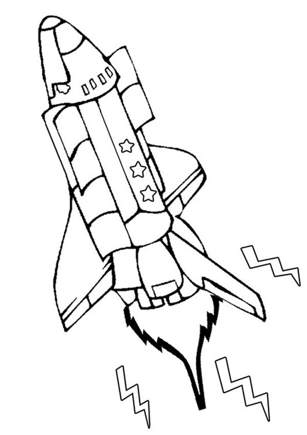 Rocket Printable Coloring Page