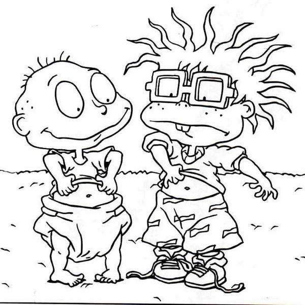 Rugrats And Tommy Pickles Coloring Pages