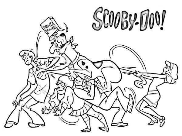 scooby doo coloring and drawing page