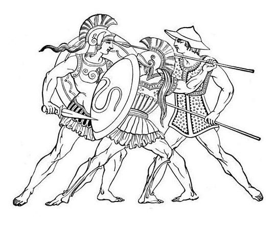 Spartan Warrior Coloring Page