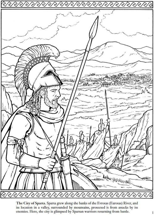 Spartan Warriors Of The Ancient World Coloring Page